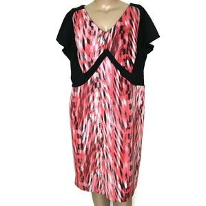 CCO🆕Ashley Stewart 22W, Pink Abstract Midi